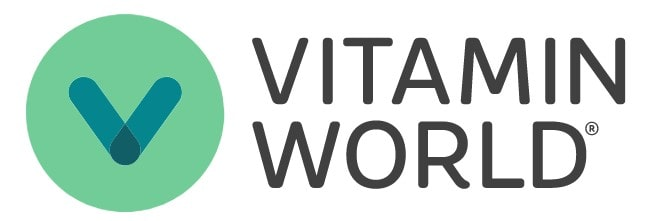 Logo of Vitamin World a website where you can buy supplements online