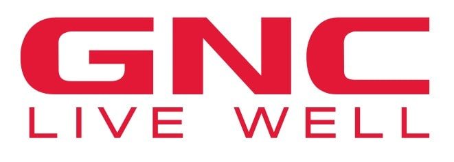 Logo of GNC, a website where you can buy supplements online